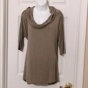 Taupe brown top - three way poncho